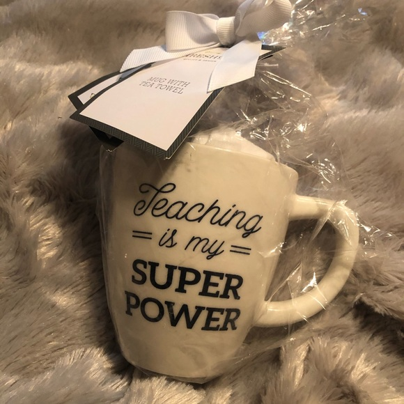 Teaching is My Super Power Mug and Towel Gift Set